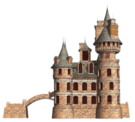 Castle 22 PNG Stock by Roy3D