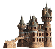 Castle 23 PNG Stock by Roy3D