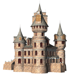 Castle 24 PNG Stock by Roy3D