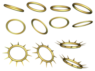 Halos PNG Stock by Roy3D