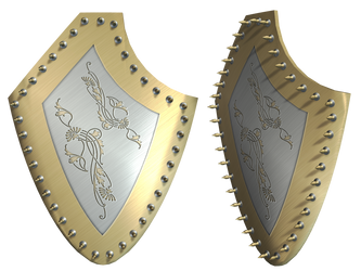 Mythical Shield PNG Stock by Roy3D