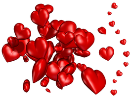 Hearts PNG Stock by Roy3D
