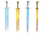 Fantasy Swords PNG Stock