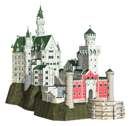 Castle 26 PNG Stock by Roy3D