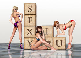 Pin Up Girls by Roy3D