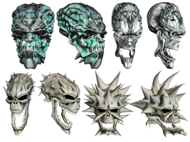 Fantasy Skulls 4 by Roy3D