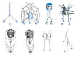 Chains And Skulls PNG Stock by Roy3D