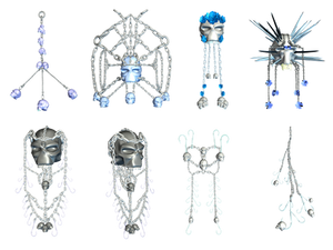 Chains And Skulls PNG Stock