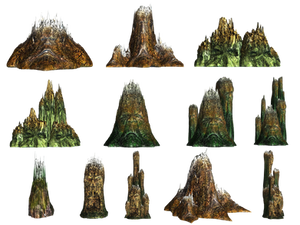 Demons Of The Cliffs PNG Stock