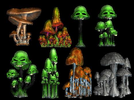 Magic Mushrooms 2 PNG Stock