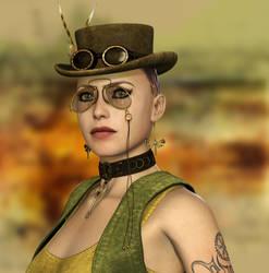 Steampunk Portrait by Roy3D