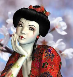 Lovely Geisha by Roy3D