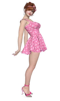 Little Pink Dress PNG Stock