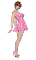 Little Pink Dress PNG Stock by Roy3D