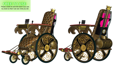 Steampunk Wheelchair PNG Stock