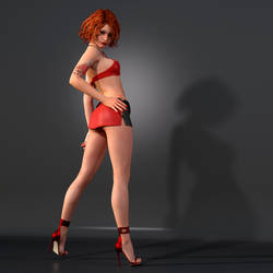Pinup Pose by Roy3D