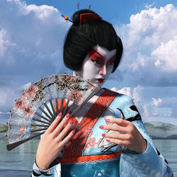 Geisha Girl by Roy3D