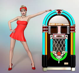 Jukebox Blonde by Roy3D