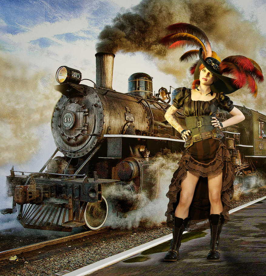 Steampunk And Steam Train by Roy3D on DeviantArt