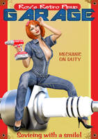 Pinup Retro Garage Poster 01 by Roy3D