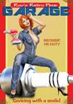 Pinup Retro Garage Poster 01