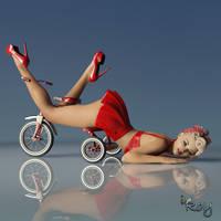 Retro Biker by Roy3D