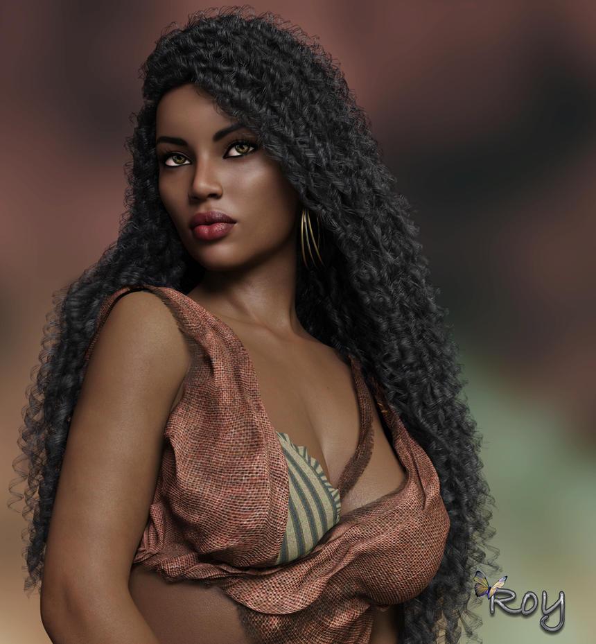 Dark Skinned Beauty by Roy3D