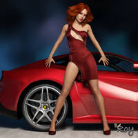 Me Or The Car? by Roy3D