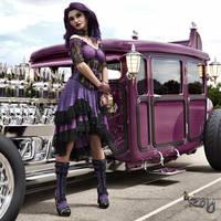 Steampunk Purple Pauline by Roy3D