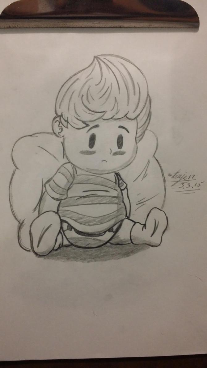 Lucas Wearing Diaper by Traje17