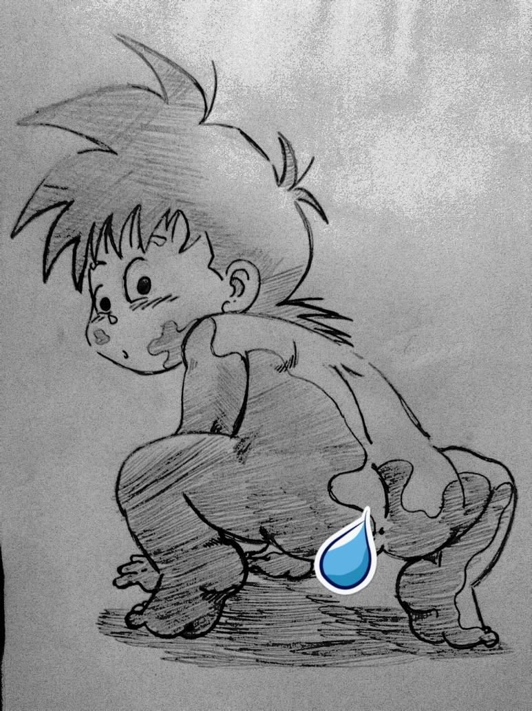 dirty kid Gohan by Traje17
