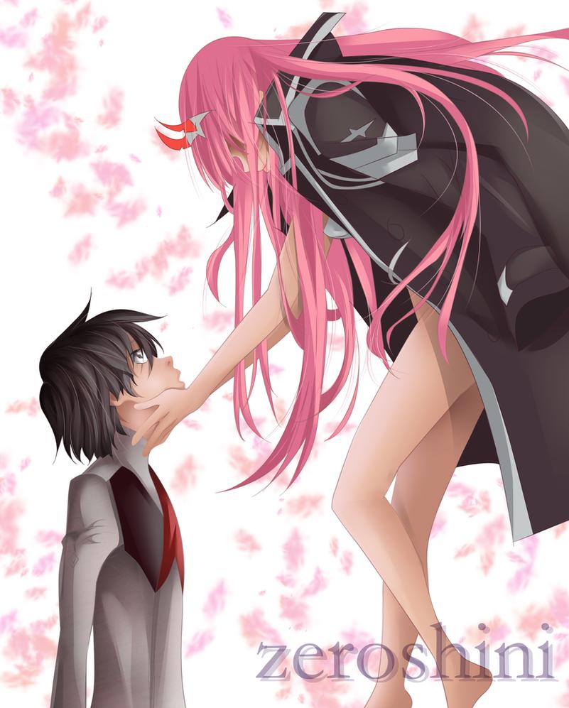 Zero two and hiro by Zeroshini
