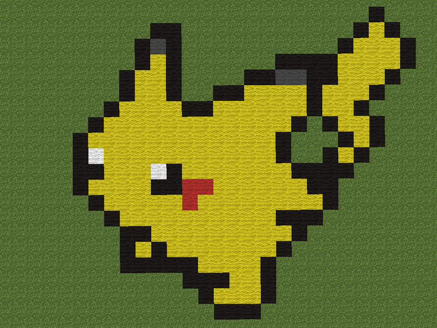 how to build pikachu in minecraft easy