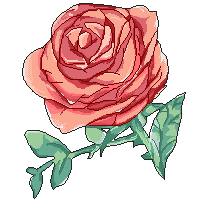 Pixel Rose by ninfiabuns