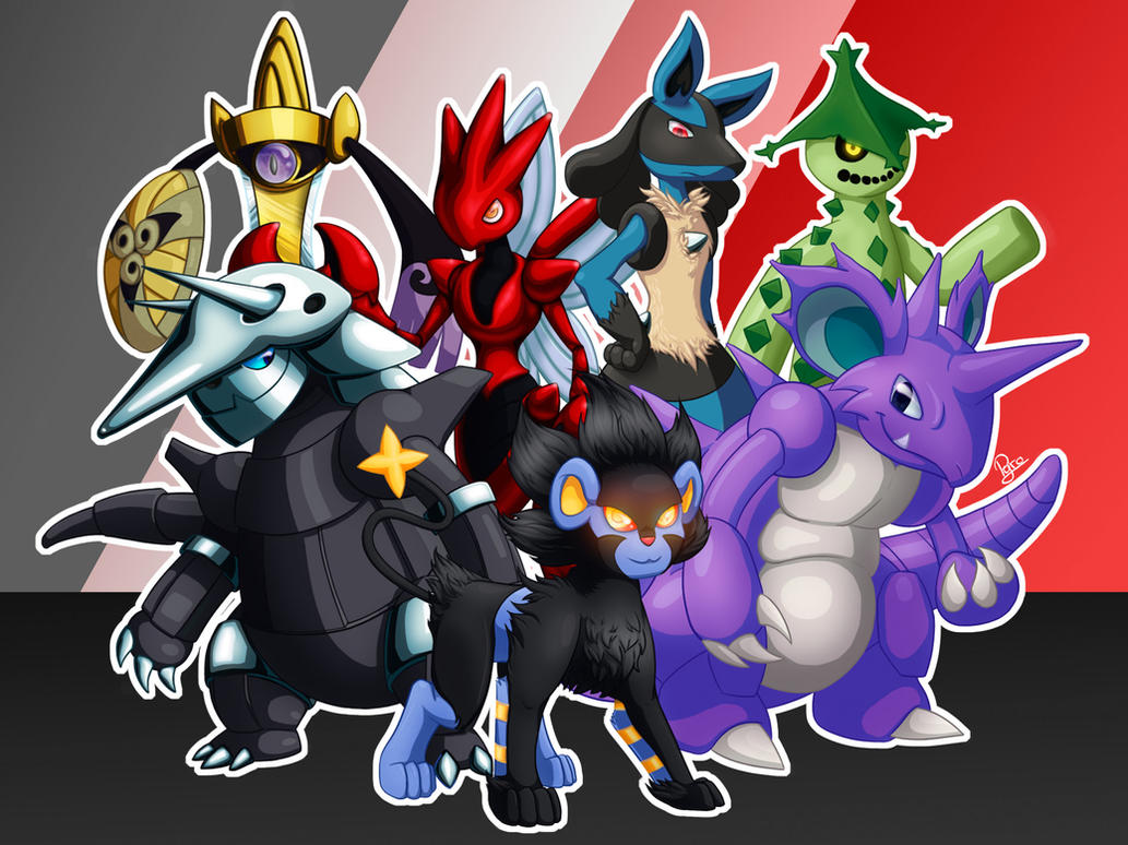 Pokemon Team (Commission #3) by Pyrokami