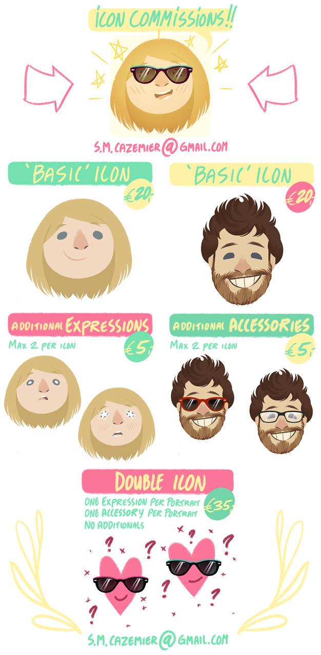 Icon Commissions by SanneCazemier