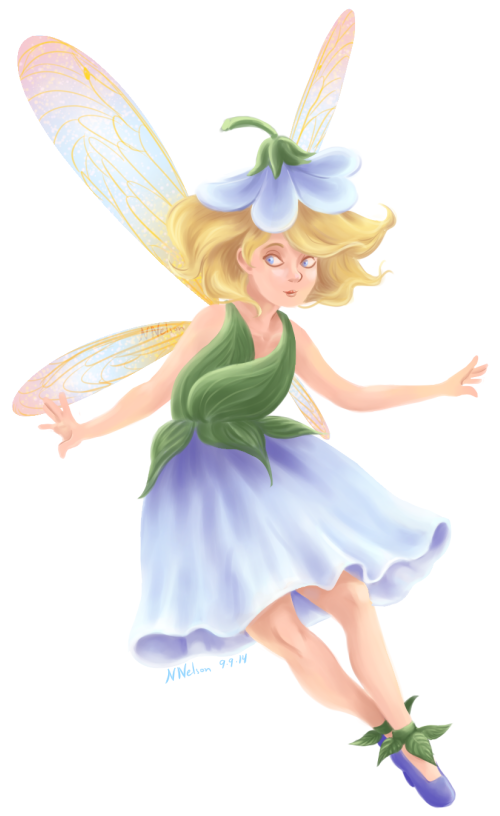 Flower Fairy in Blue by SailingBreezes