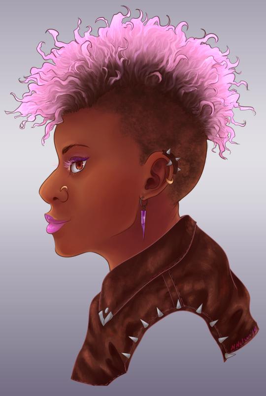 Punk Portrait by SailingBreezes