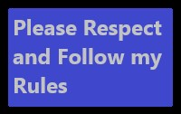 Please Respect and Follow the Rules Stamp