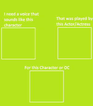I need a voice actor to sound like another meme