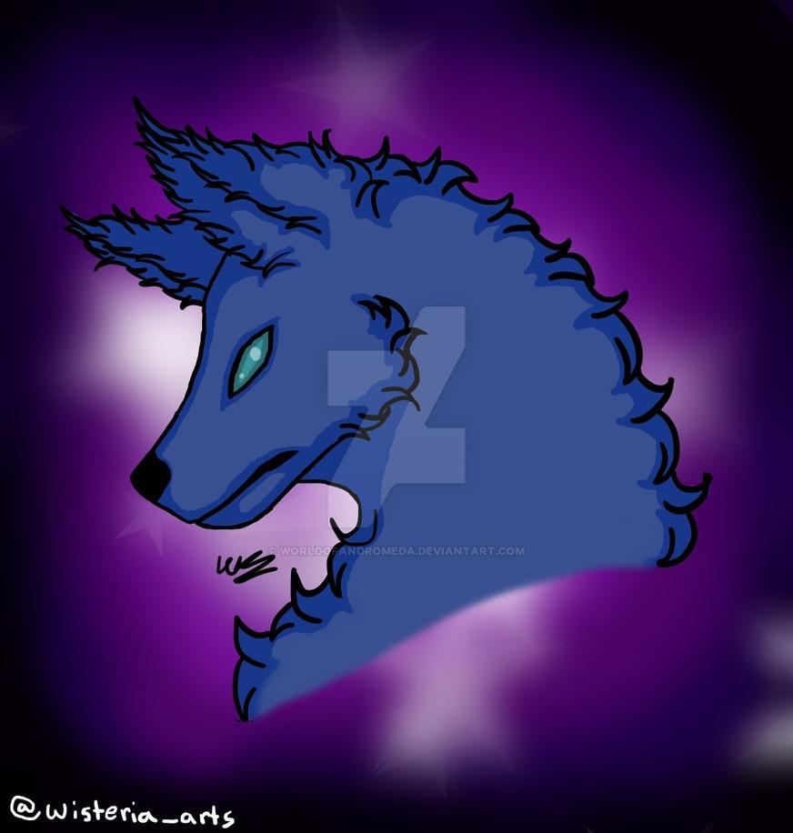 Galaxy Wolf by WorldOfAndromeda