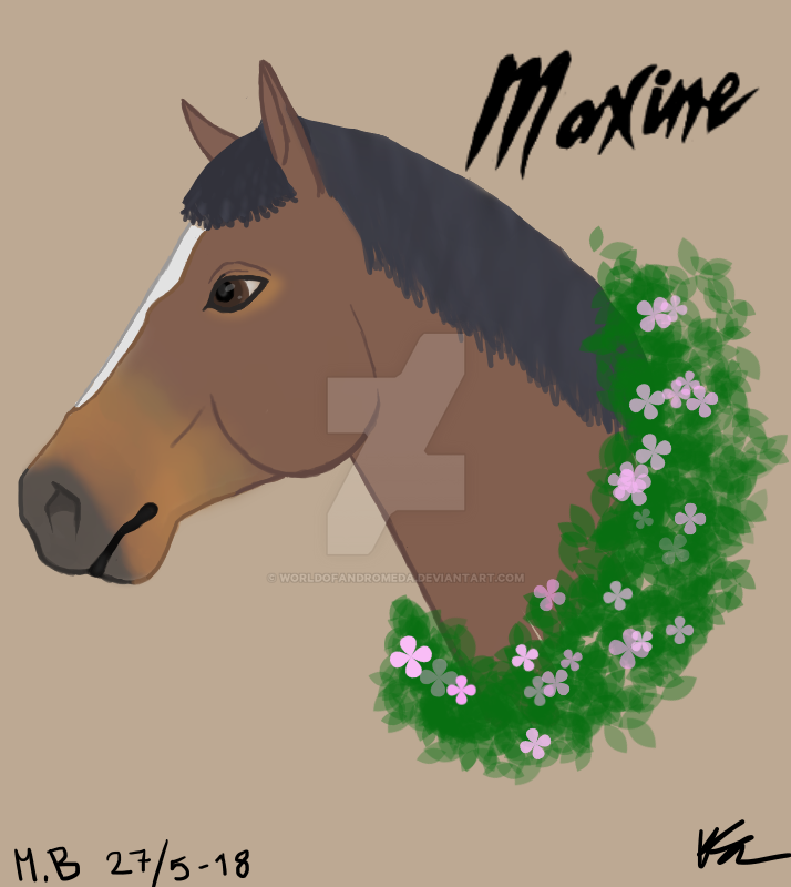 My horse Maxine Fleur by WorldOfAndromeda