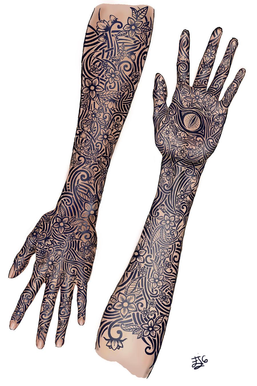 Feyre bargain tattoo by leywan