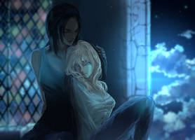 Christa and Ymir by Faesu