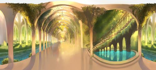 Fantasy Subway Station by Faesu