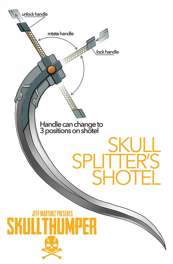 Skull Splitter's Shotel by artofJEPROX