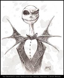 Jack Skellington sketch by andybrase