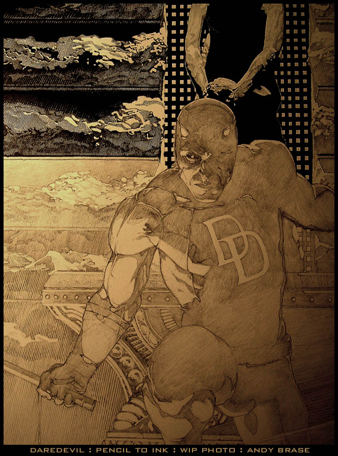 Daredevil cover: WIP photo by andybrase