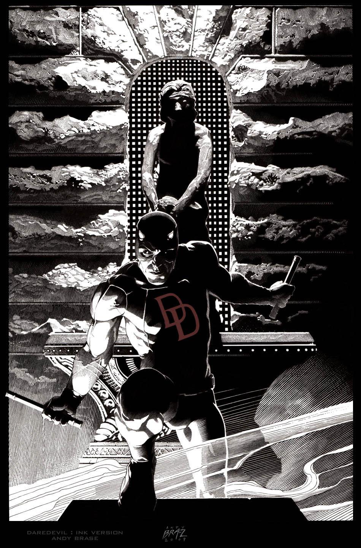 Daredevil cover by andybrase