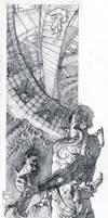 Twisted Walls- Pencil WIP